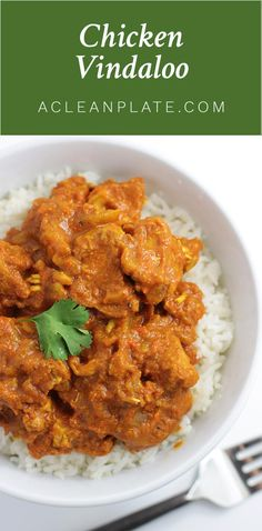 Chicken Vindaloo recipe from acleanplate.com