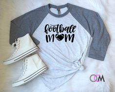 Football Mom Shirt, Football Mama Shirt, Football Mom, Life of a Football Mom, Football Shirt, Football Raglan, Football Team Shirt by 1OneCraftyMomma on Etsy