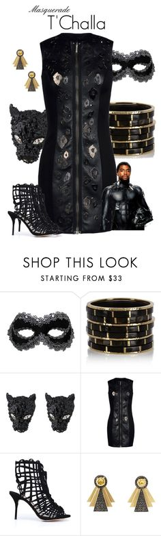 """Masquerade: T' Challa"" by jivy44 ❤ liked on Polyvore featuring Swarovski, Ashley Pittman, Alexis Bittar, Anthony Vaccarello, Sophia Webster and Ileana Makri"