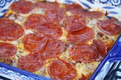 Sausage and Pepperoni Pizza Pasta Casserole from Deep South Dish website. All the flavors of a sausage and pepperoni pizza, in an easy pasta casserole. Pasta Casserole, Casserole Dishes, Casserole Recipes, Homemade Potato Soup, Hoe Cakes, Deep South Dish, Pizza Recipes, Bread Recipes, Sausage Recipes