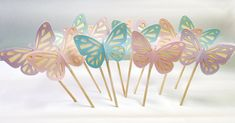 Cupcake toppers butterfly by cwagenblass9 on Etsy