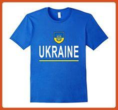 Mens Ukraine Soccer T-Shirt - Ukrainian Football Jersey 2017 2XL Royal Blue - Sports shirts (*Partner-Link)