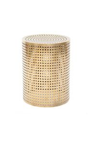 Perforated Bronze Stool #kellywearstler #furniture #home #decor #perforated #stool #bronze