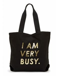 I Am Very Busy Canvas Tote Bag