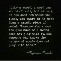 Words are weapons