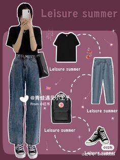Korean Fashion Trends, Korean Street Fashion, Korea Fashion, Asian Fashion, Korean Girl Fashion, India Fashion, Teen Fashion Outfits, Kpop Outfits, Korean Outfits