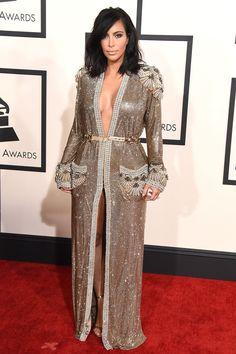 Kim Kardashian arrives at the the 57th Annual Grammy Awards on Feb. 8, 2015, in Los Angeles.  -Cosmopolitan.com