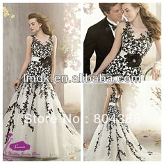 Cheap dress womens, Buy Quality dress new directly from China dress sleeveless Suppliers:2013 Hot Sell Coral-41 black Lace Appliquened Tank Empire white and black Wedding Dress &n