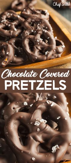 Chocolate Covered Pretzels | Sweet, salty and best of all... TASTY! Chocolate Covered Pretzels, Appetizer Dips, Doughnut, Sweet Treats, Tasty, Breakfast, Desserts, Recipes, Food