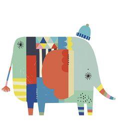 MiPetiteLife.es - Vinilo Infantil Elefante decorativo. Los vinilos LILIPINSO están hechos para hacer de las habitaciones infantiles un lugar extraordinario. Para decorar la habitación de los bebes. www.MiPetiteLife.es