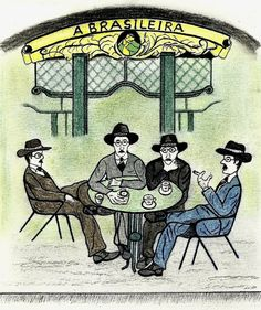 Fernando Pessoa and his heteronyms. Beyond Beauty, My Heritage, Comics, Country, Drawings, Writers, Artist, Poster, Painting