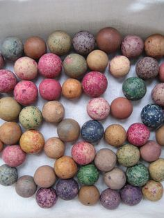 Colored Clay Marbles