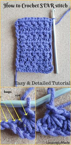 Crochet the Star stitch with this detailed photo tutorial. Try it!