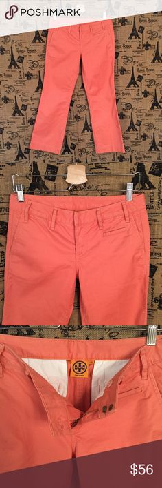 Tory Burch Sherbet Orange Crop Pants Size 26 Excellent condition! Measurements will be added soon! Tory Burch Pants Ankle & Cropped