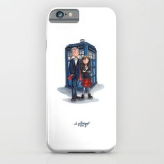The+Doctor+&+Clara+iPhone+&+iPod+Case+by+marianouuu+-+$35.00