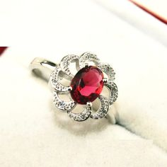 Find More Rings Information about 49% off Flower Red Created Diamond Ring for Women Vintage Silver Plated Crystal Jewerly Ruby Engagement Rings Female Ulove Y038,High Quality ring ford,China ring crystal Suppliers, Cheap ring from ULove Fashion Jewelry Store on Aliexpress.com
