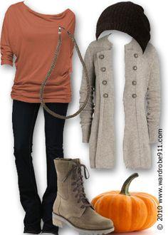 Cozy fall fashion.