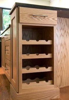 Park Lane Multi-Room - built in wine rack by Darcy Bean Custom Construction
