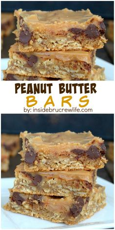 Peanut Butter Bars - easy peanut butter bars with a peanut butter glaze that everyone will love