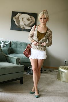 lace shorts....I just ordered in black!