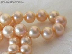 High Lustre Coppery Peach Metallic Round Freshwater Pearl Necklace and Earring Set