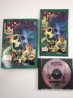 Secret of Monkey Island Sega CD 1992 Video Game Lucas Arts Complete Good Cond
