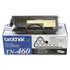 Brother Genuine TN-460 Toner Cartridge Black 6000 Pages TN460