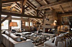 Chalet Rustique Salon Ambiance Montagne Déco Cocooning Chalet Suisse, Vieux  Bois, Maison Bois,