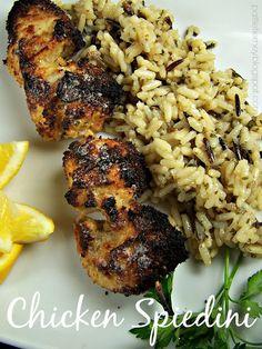 A local restaurant favorite, tweaked to be a bit better - Chicken Spiedini. Turkey Dishes, Turkey Recipes, Chicken Recipes, Dinner Recipes, Dinner Ideas, Chicken Ideas, Meal Ideas, Grilling Recipes, Cooking Recipes