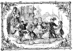 Royalty Free Pictures - Image 8 :: Around the May Pole - Children holding hands and dancing around a May Pole