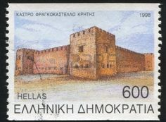 Picture of GREECE - CIRCA stamp printed by Greece, shows Fragkokastello, circa 1998 stock photo, images and stock photography. Greek Castle, Ex Yougoslavie, Old Stamps, Stamp Printing, Advertising Photography, Rest Of The World, Stamp Collecting, Postage Stamps, Monument Valley
