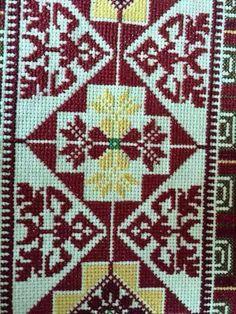 Cross Stitch Designs, Cross Stitch Patterns, Cross Stitch Embroidery, Embroidery Patterns, Palestine, Palestinian Embroidery, Knitting Needles, Needlepoint, Folk Art