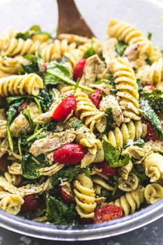 Pesto Chicken Pasta Salad Tender White Chicken Morsels Fresh