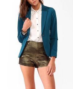 Solid Notched Lapel Blazer - $24.80 at Forever 21 {could replace the button for a more chic look}