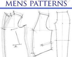 Victorian clothing men | Etsy Crochet Vest Pattern, Shrug Pattern, Jacket Pattern, Animal Sewing Patterns, Dress Sewing Patterns, Gothic Clothing Mens, Fraternity Collection, Sleeveless Jacket, Costume Patterns