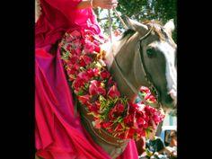 e80e8292 Paniolo Lei and Pa'u dress at the 38th annual Waimea Paniolo Parade. Hawaii