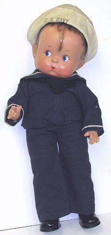 3: Vint Composition Effanbee SKIPPY Sailor Boy Doll : Lot 3