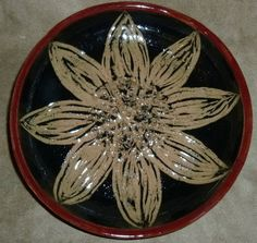 Pottery Bowl Stoneware Handmade with by PotteryLaceNautical
