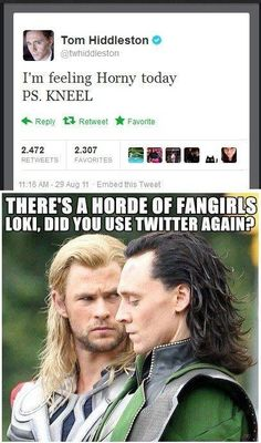 Loki takes over Tom Hiddleston's twitter