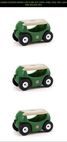 Garden Scooter Hopper Cart Work Seat Stool Wheel Tool Tray Lawn Yard Rolling  New #drone