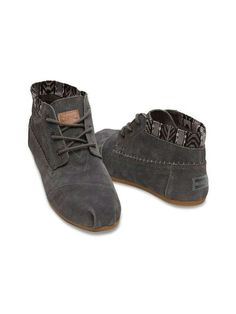 f99b50c95c81 Hop to it in TOMS women  Dark Grey Trim Suede Tribal Boots. Whether you  wear them now
