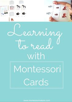 Learning To Read With Montessori Cards.   Language Activities for preschooler   hands - on learning activities   Educational Activities   Children Learn To Read Montessori Way