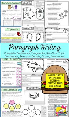 how to write a topic sentence 4th grade