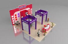 Sahbaz exhibition fair stand design 3d model