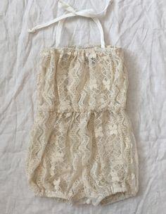 Lace Cotton Boho Baby Romper