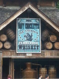 Davy Crockett's Tennessee Whiskey. #Gatlinburg on the Parkway