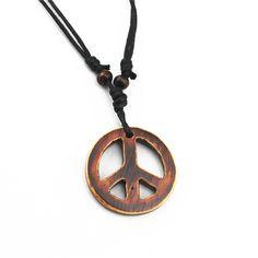 Cadena Hippie Para Hombre y Mujer Con Símbolo Paz & Amor //Price: $8.99 & FREE Shipping //     #ethnicwear