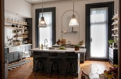 See the interiors of Nancy Meyers' latest film: Jules' home, where she lives with husband Matt and daughter Paige, was created within a renovated brownstone in the Clinton Hill neighborhood of Brooklyn.