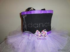 Purple Tutu Dance Bag by Tutunyou on Etsy