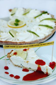 Lime pie inspired by Dexter (TV series).